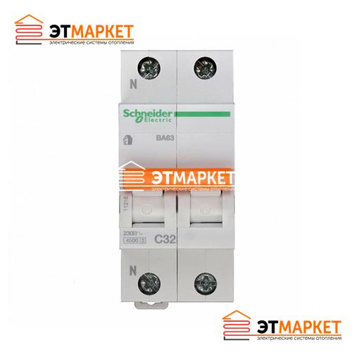 Автоматический выключатель Schneider-Electric Домовой ВА63 1P+N 10A C
