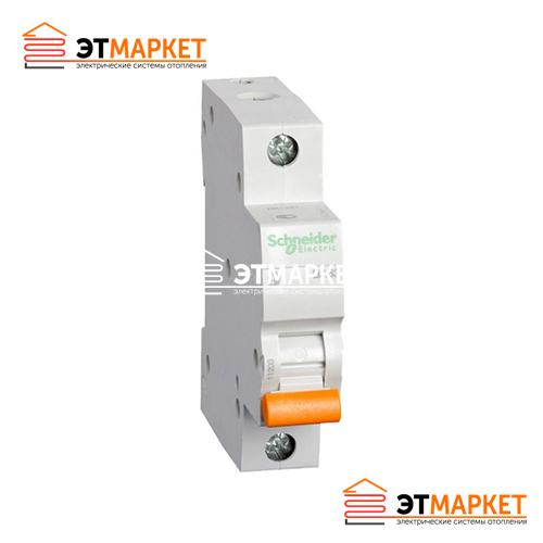 Автоматический выключатель Schneider-Electric Домовой ВА63 1P 20А C