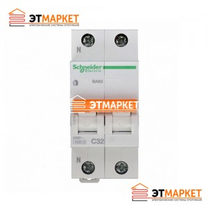 Автоматический выключатель Schneider-Electric Домовой ВА63 1P+N 6A C
