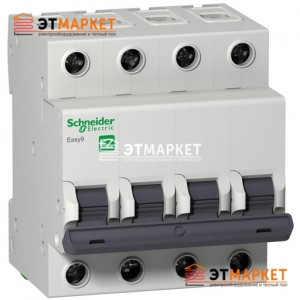 Автомат Schneider Electric Easy9 4 п., 50А, В