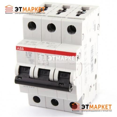 Автоматический выключатель ABB S203-C16