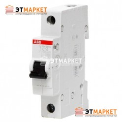 Автоматический выключатель ABB SH201-B6, 1 п., 6А, B