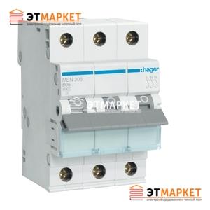 Автоматический выключатель Hager MB310A 10А, 3п, В, 6kA