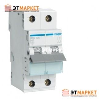 Автоматический выключатель Hager MC506A 6А, 1+N, С, 6kA