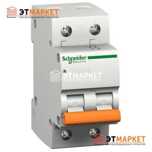 Автоматический выключатель Schneider Electric ВА63 50А, 1+N п., 4,5 кА