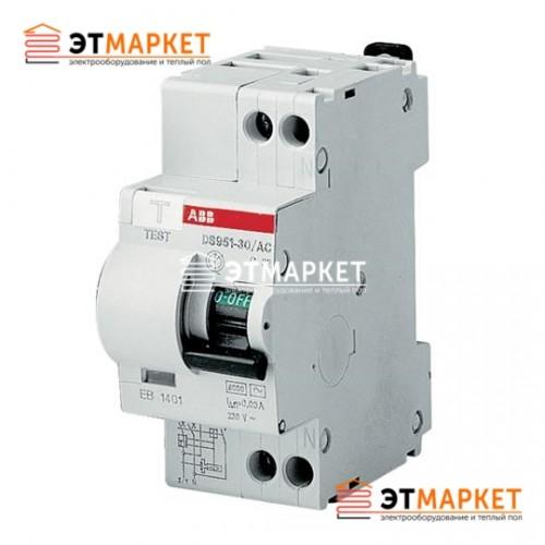 Диффавтомат ABB DS 951 AC-C6/0,03A