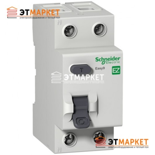 Дифреле Schneider Electric EZ9 2Р, 63А, 100 мА, А