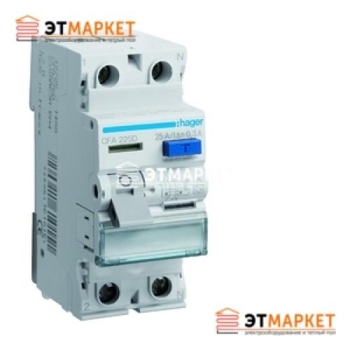 Устройство защитного отключения Hager 2x25A, 30 mA, AC, 2м