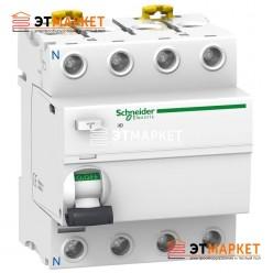 УЗО Schneider Electric iID 4P, 40A, 300 mA, A S