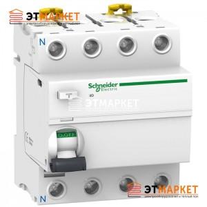 УЗО Schneider Electric iID 4P, 80A, 100 mA, AC