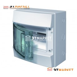 Щит ABB Mistral65 8 м., IP65, прозрачные двери, клеммник, навесной
