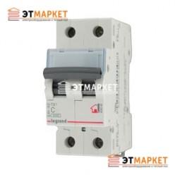 Автоматический выключатель Legrand TX³ 50A, C, 6 kA, 2 п.