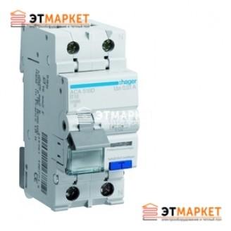 Дифавтомат Hager 1+N, 10A, 30 mA, С, 4,5 кА, AC, 2м
