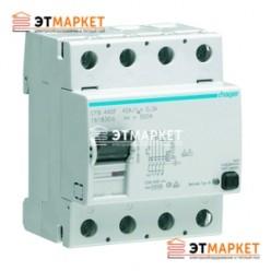 Устройство защитного отключения Hager 4x40A, 30 mA, A, HI, 4м