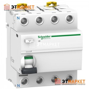 УЗО Schneider Electric iID 4P, 80A, 30 mA, Asi