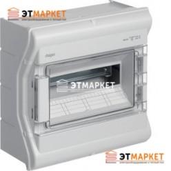 Щит Hager Vector накладной, прозрачная дверца, 12 (14) м., IP65