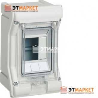 Щит Hager Vector накладной, прозрачная дверца, 3 м., IP65