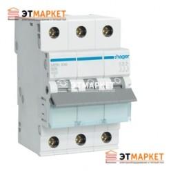 Автоматический выключатель Hager MB316A 16А, 3п, В, 6kA