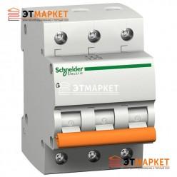 Автоматический выключатель Schneider Electric ВА63 25А, 3 п., 4,5 кА