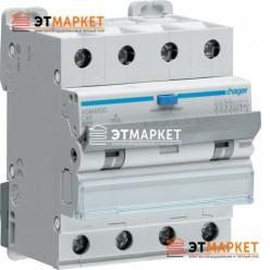 Диффавтомат Hager ADM490C, 4P, 40А, С, С6 кА, A, 30mA