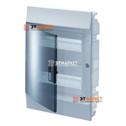 Щит ABB Mistral41F 36 м. (18x2), IP41, прозрачные двери, клеммник, встраиваемый