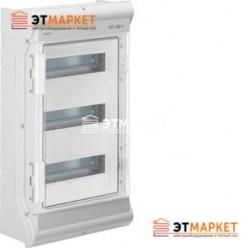 Щит Hager Vector накладной, прозрачная дверца, 36 (42) м., IP65