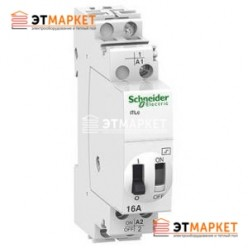 Импульсное реле Schneider Electric iTLI 16A 1NO+1NC 12В АС/6В DC