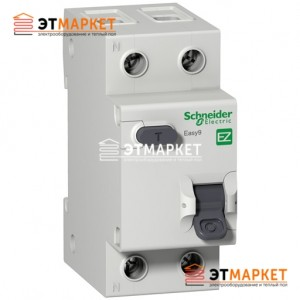 Дифавтомат Schneider Electric Easy9 1Р+N, 16А, 30 мА, АС