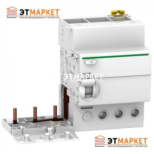 Дифференциальный блок Schneider Electric VIGI iC60 3P, 63A, 30 mA, AC