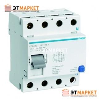 Устройство защитного отключения Hager 4x125A, 500 mA, A, 5м