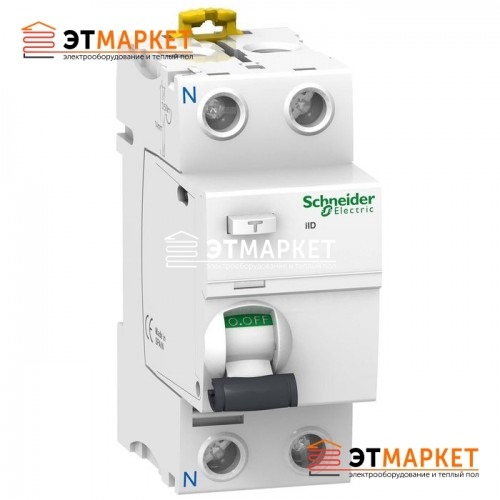 УЗО Schneider Electric iID 2P, 63A, 300 mA, A S