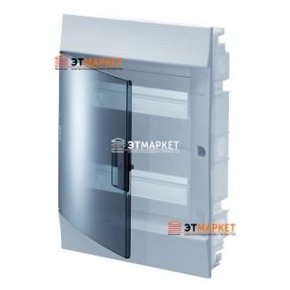 Щит ABB Mistral41F 850 36 м. (18x2), IP41, прозрачные двери, встраиваемый