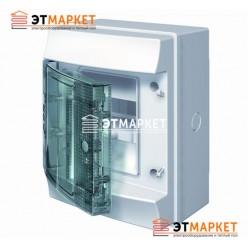 Щит ABB Mistral65 4 м., IP65 , прозрачные двери, навесной