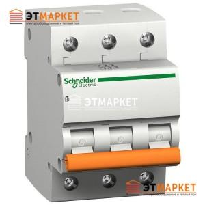 Автоматический выключатель Schneider Electric ВА63 20А, 3 п., 4,5 кА