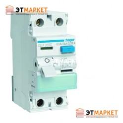 Устройство защитного отключения Hager 2x63 A, 30 mA, A, 2м