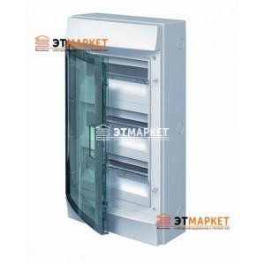 Щит ABB Mistral65 750 36 м. (12x3), IP65 , прозрачные двери, навесной