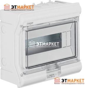 Щит Hager Vector накладной, прозрачная дверца, 10 м., IP65