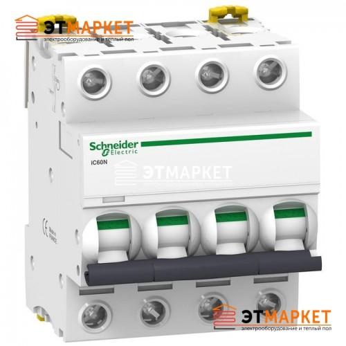 Автоматический выключатель Schneider Electric iC60N, 4P, 50A, D