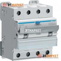 Диффавтомат Hager ADM466C, 4P, 16А, С, С6 кА, A, 30mA