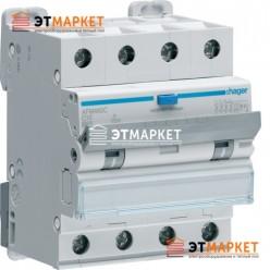 Диффавтомат Hager AFM460C, 4P, 10А, С, С6 кА, A, 300mA