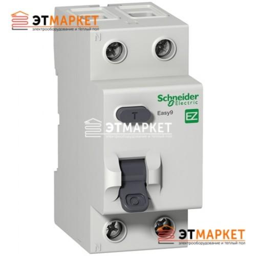 Дифреле Schneider Electric EZ9 2Р, 63А, 100 мА, АС