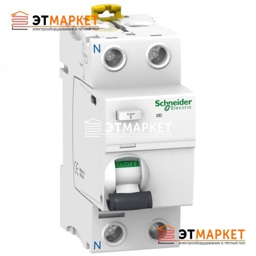 УЗО Schneider Electric iID 2P, 63A, 100 mA, AC