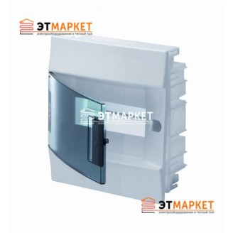Щит ABB Mistral41F 8 м., IP41, прозрачные двери, встраиваемый