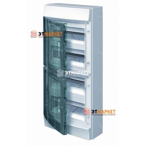 Щит ABB Mistral65 48 м., IP65 , прозрачные двери, навесной