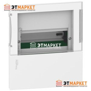 Щит Schneider Electric Mini Pragma 1ряд/8м., встраиваемый, прозрачные двери