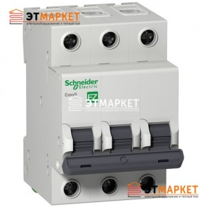 Автомат Schneider Electric Easy9 3 п., 50А, В