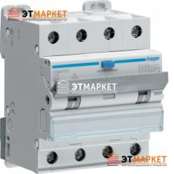 Диффавтомат Hager ADM475C, 4P, 25А, С, С6 кА, A, 30mA