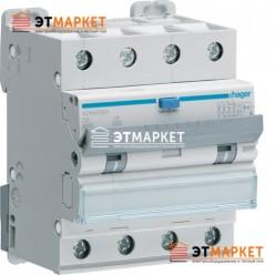 Диффавтомат Hager AFH456H, 4P, 6А, С, С6 кА, Hi, 300mA