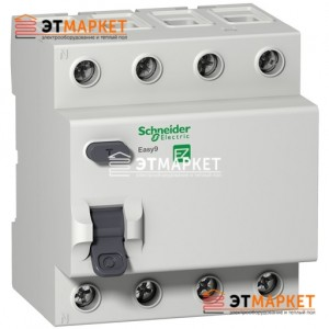 Дифреле Schneider Electric EZ9 4Р, 25А, 30 мА, АС
