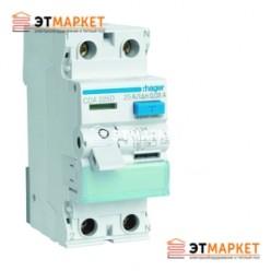 Устройство защитного отключения Hager 2x25 A, 30 mA, A, 2м